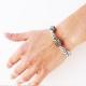 Bracelet en lin Sixtine - bracelet artisanale