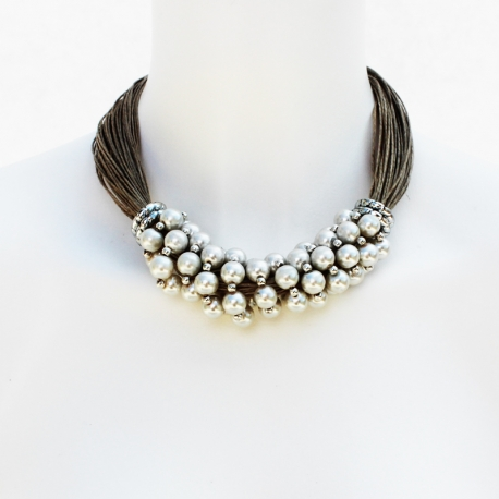 Linen Ornella Necklace - handcrafted jewelry linen