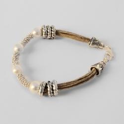 Bracelet en lin naturel chic Quitterie