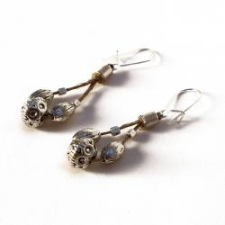 Boucles d'oreilles orientales en lin Tess
