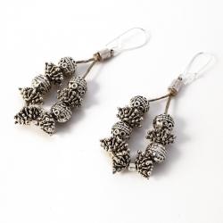 Boucles d'oreilles en lin - bijou oriental Irem