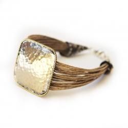 Bracelet lin - Bijoux boho lin- Bijoux bohème - bijoux orientaux Mykonos