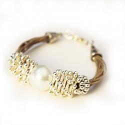 Bracelet ethnique - Bijoux ethnique en lin Hydra