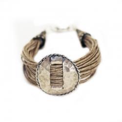 Bracelet ethnique- bracelet bohème en lin Essaouira