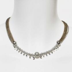 Collier bohème féminin collier artisanal et bijoux en lin