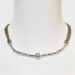 Collier bohème collier soirée et bijou artisanal en lin