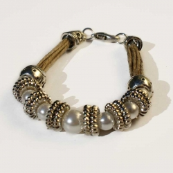 Bijou hippie chic bracelets naturels et bijou en lin