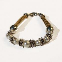 Bijou bohème chic bracelet naturel en lin
