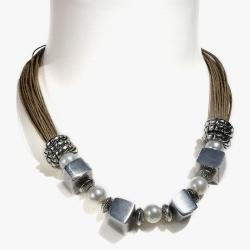 Collier boheme-chic grosses perles