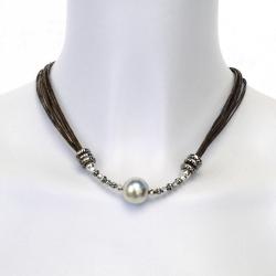 Collier fil de lin et perles - Collier Jessy