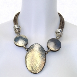 Collier lin Fanette - Bijou lin ethnique original