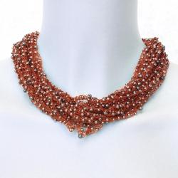 collier crochet Ondine - bijou aérien